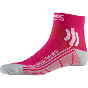 X-Socks Run Speed Two Calcetines Running Mujer, pink